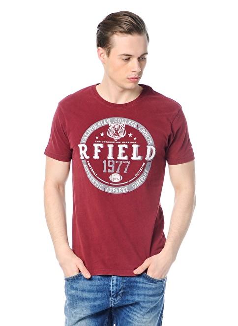 Routefield Baskılı Tişört Bordo